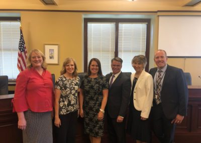 After my Senate hearing with Susan Edwards, Tracy Miller, Melinda, Susan Pulsipher and Mike Anderson