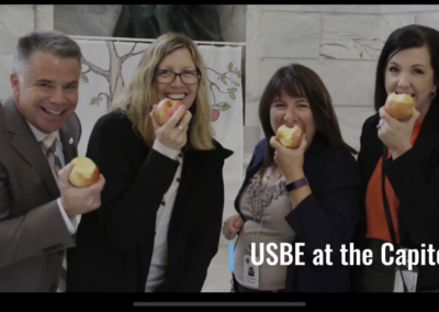 State Board at Capitol for Apple Crunch Day
